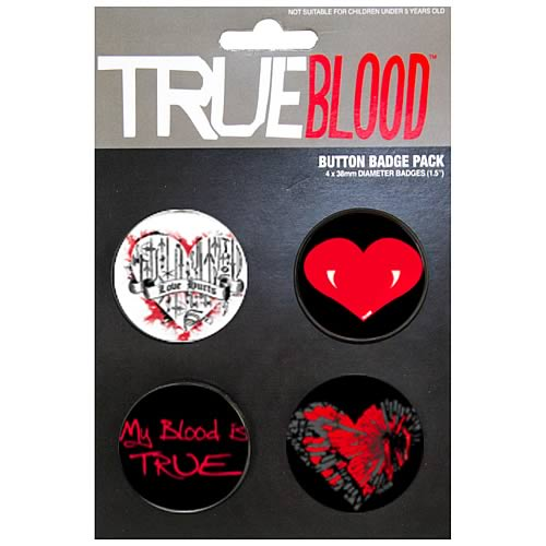 True Blood Pin 4-Pack Set #2