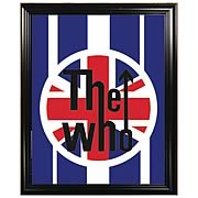 The Who Red White and Blue Framed Mirror Art