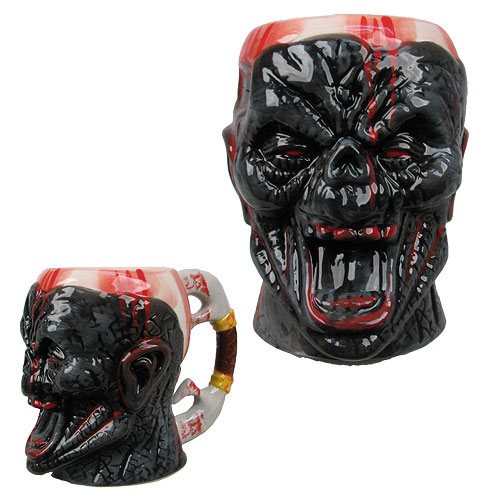 Bloody Zombie Face Molded 16 oz. Mug
