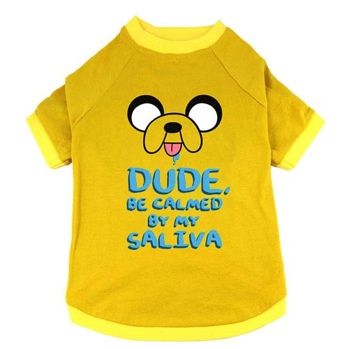 Adventure Time Dude, Be Calmed By My Saliva Dog Shirt