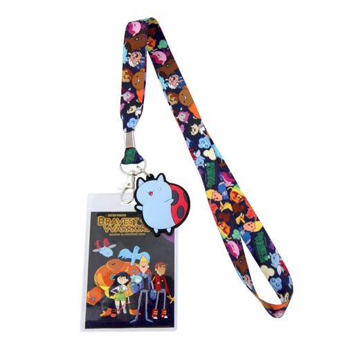Bravest Warriors Logo Lanyard Key Chain