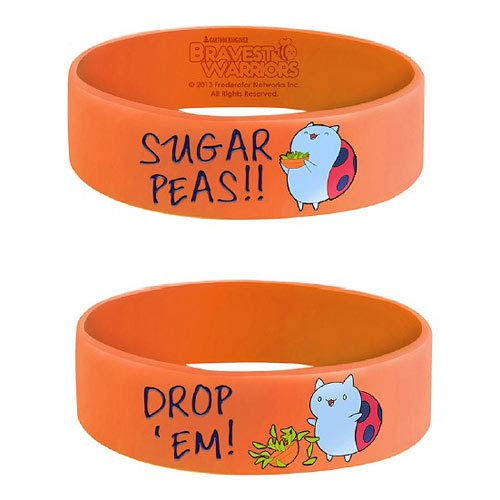 Bravest Warriors Catbug Sugar Peas! Orange Bracelet
