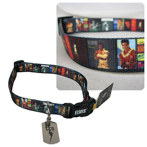 Elvis Presley Album Cover Dog Collar