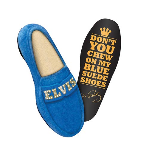 Elvis Presley Blue Suede Shoe Plush Dog Toy