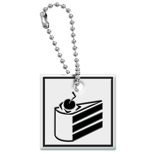 Portal Cake Level Sign Key Cap Key Chain