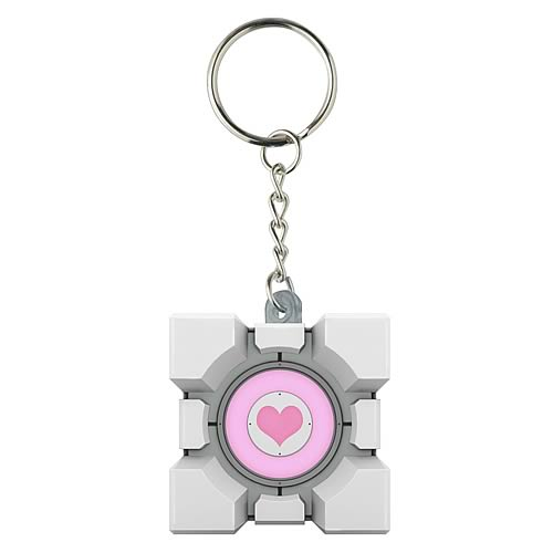 Portal 2 Original Companion Cube Key Chain
