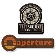 Portal 1940s & 1970s Aperture Logo Collectible Patch 2-Pack