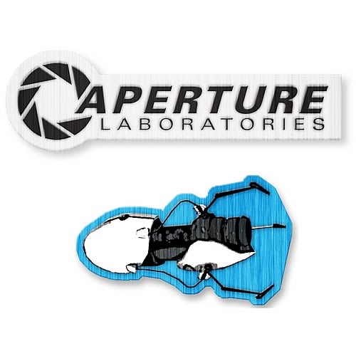 Portal 1980s Aperture Logo and Portal Gun Patch 2-Pack