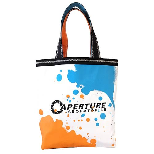 Portal 2 Aperture Laboratories Splat Tote Bag