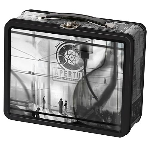Portal 2 1940s Aperture Laboratories Tin Lunch Box