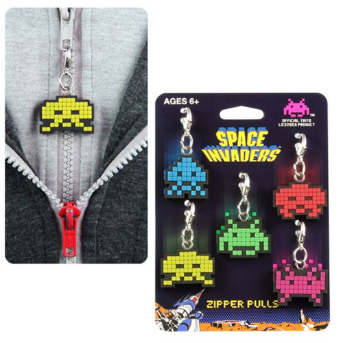 Your Personal Space Invader - Awesome New Zipper Pulls!