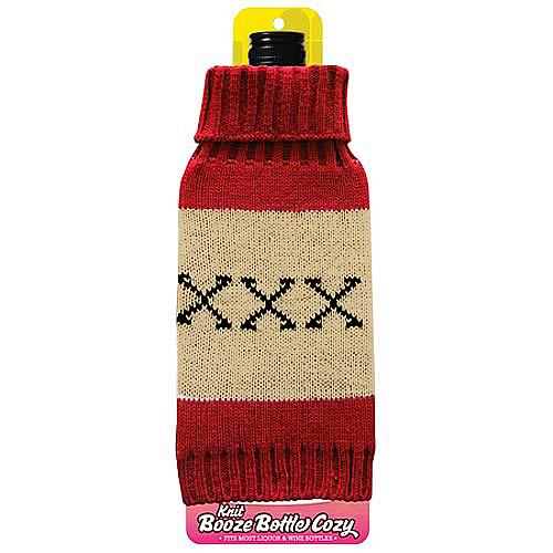 XXX Wine and Liquor Bottle Knit Cozy