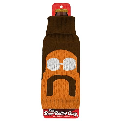 Porn 'Stache Beer Bottle Knit Cozy