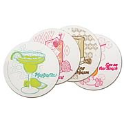 Classic Alcoholic Beverages Coaster Set