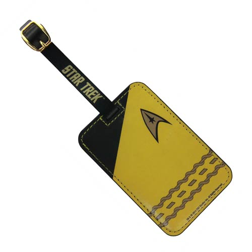 Star Trek Gold Uniform Luggage Tag
