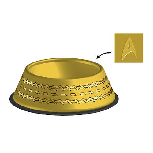 Star Trek The Original Series Gold Uniform Dog Bowl
