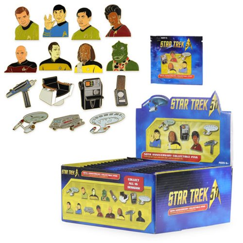 Star Trek 50th Anniversary Pin Random 6-Pack
