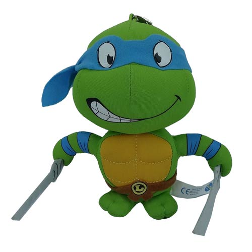 TMNT Leonardo Super Deformed 5 1/2-Inch Plush Key Chain