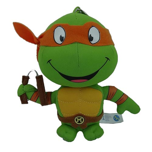 TMNT Michelangelo Super Deformed 5 1/2-Inch Plush Key Chain