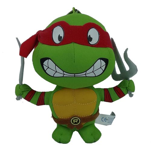 TMNT Raphael Super Deformed 5 1/2-Inch Plush Key Chain