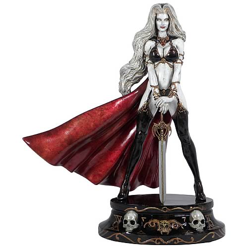 Lady Death Faux White Bronze Statue