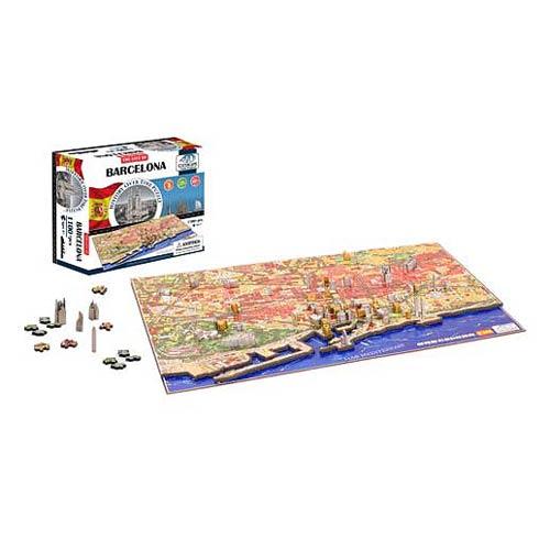 Barcelona Spain 4D Puzzle