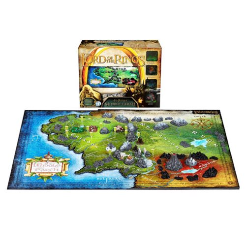 Lord of the Ring Middle Earth 4D Cityscape Puzzle, Not Mint
