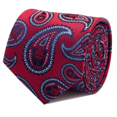 Star Wars Darth Vader Red Paisley Italian Silk Tie