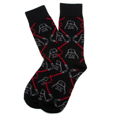 Star Wars Darth Vader Lightsaber Black Socks