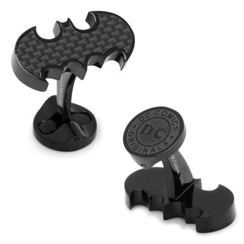 Batman_Logo_Carbon_Fiber_Stainless_Steel_Cufflinks