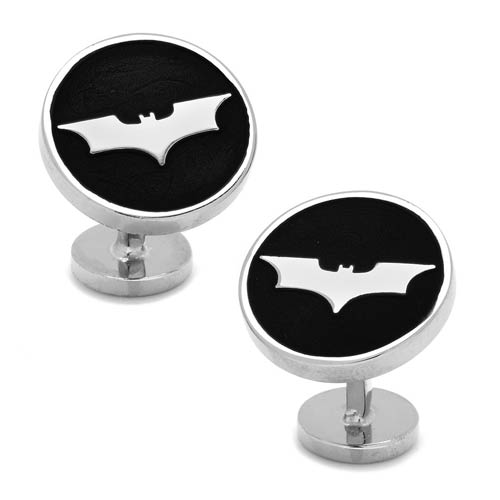 Batman Dark Knight Recessed Black Cufflinks