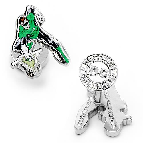 Green Lantern Punching Cufflinks