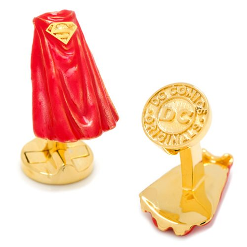 Superman Cape 3D Cufflinks