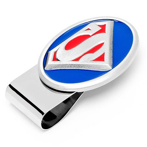 Superman Logo 3-D Pewter Money Clip