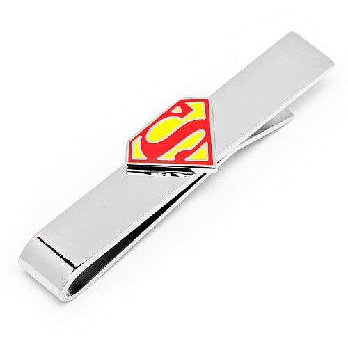 Superman Shield Logo DC Comics Tie Bar