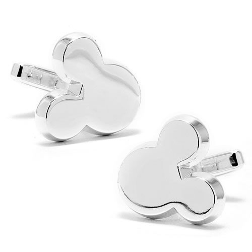Mickey Mouse Head Silver Cufflinks