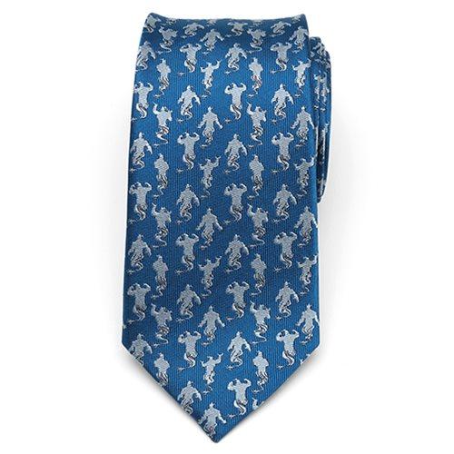 Aladdin Genie Scattered Blue Men's Tie