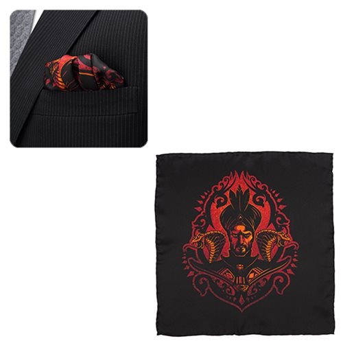 Aladdin Jafar Ombre Black Pocket Square