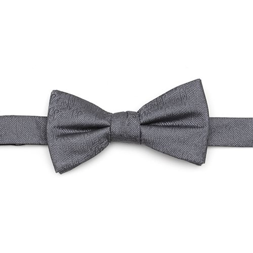 Aladdin Jafar Writing Motif Gray Men's Bow Tie