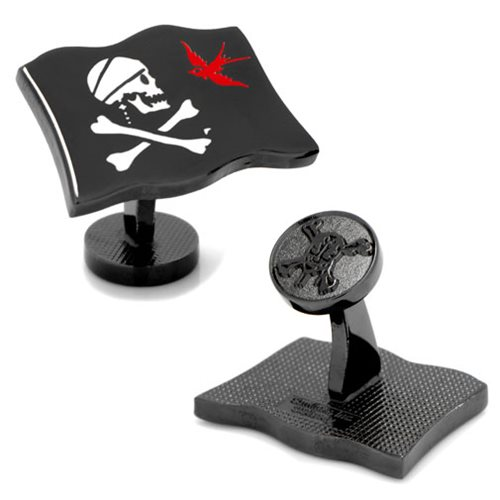 Pirates of the Caribbean Jack Sparrow Flag Cufflinks