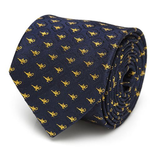Aladdin Lamp Scattered Navy Men's Tie