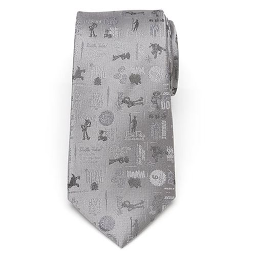 Toy Story 4 Characters Gray Men's Tie
