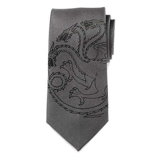 Game of Thrones Targaryen Dragon Gray Men's Tie