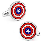 Captain America Shield Color Cufflinks