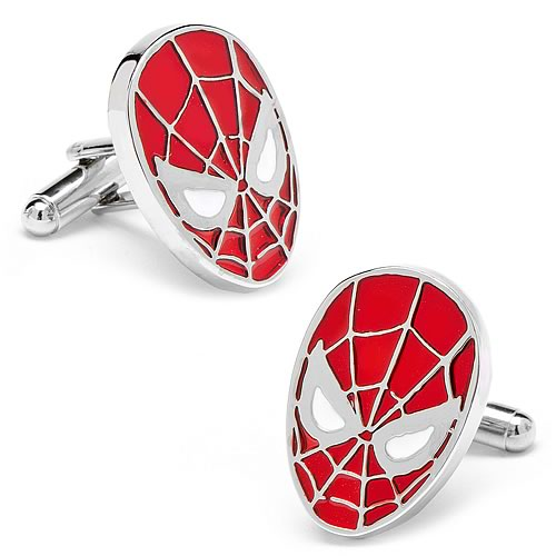 Spider-Man Face Color Cufflinks