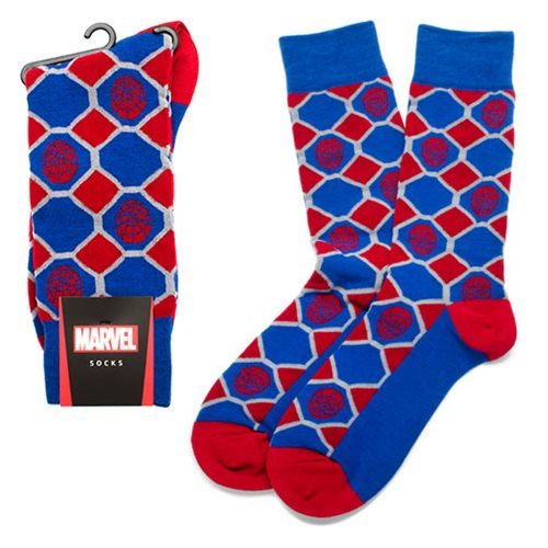 SpiderMan_Blue_Checker_Socks