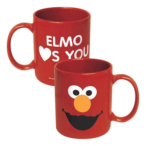 Sesame Street Elmo Big Face Ceramic Mug