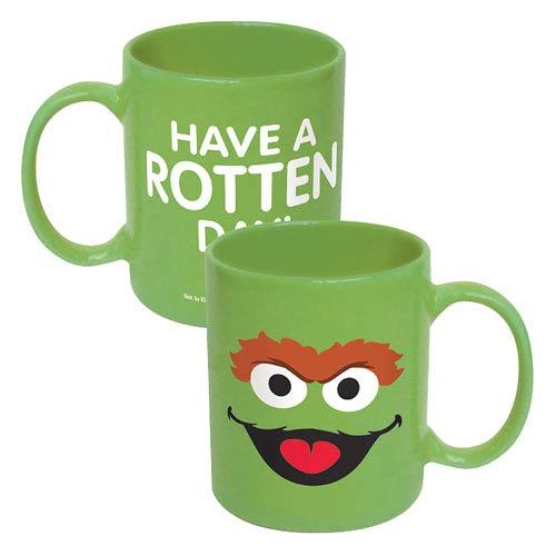 Sesame Street Oscar Big Face Ceramic Mug