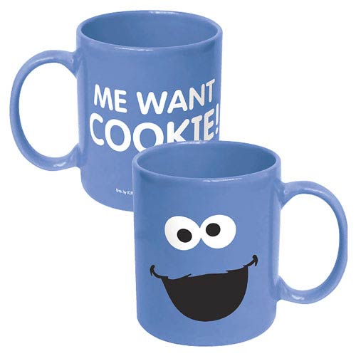 Sesame Street Cookie Monster Big Face Ceramic Mug