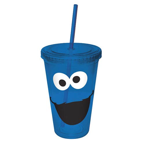 Sesame Street Cookie Monster Big Face Acrylic Travel Cup